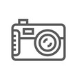 camera electronic devices line icon vector image vector image