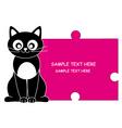 cat pink vector image vector image