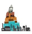 City Buildings Dollar vector image vector image