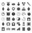clock watches and time related icon set such as vector image vector image
