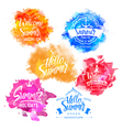 Collection of Summer and Holidays Labels vector image vector image