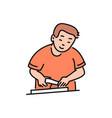 cooking man cartoon character vector image