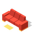 couch isometric vector image