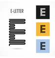 Creative E - letter icon abstract logo design vector image