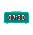 digital alarm clock flat icon vector image vector image