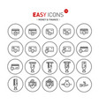 easy icons 12b money vector image vector image