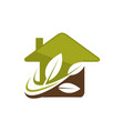 eco home vector image vector image