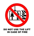 Fire emergency icons Do not vector image vector image
