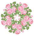 floral round pattern on white background vector image vector image