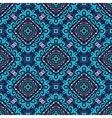Flower Pattern Blue Curves vector image vector image