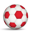 football ball red- white color vector image