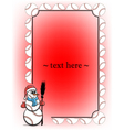 Frame with baseball and snowman vector image vector image