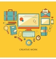 Freelance and remote creative work - vector image vector image