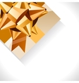 gift box and big gold bow vector image vector image