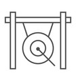 gong thin line icon musical and china instrument vector image vector image