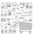 grocery store digital stamps vector image