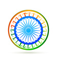 indian flag design concept with blue wheel vector image vector image
