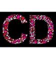 letter c d valentine alphabet vector image vector image