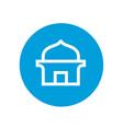 masjid or islamic mosque logo icon vector image vector image