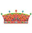 Medieval Slavic king crown vector image vector image