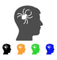 mental parasite spider flat icon vector image