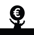 money euro with man vector image vector image