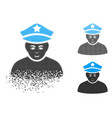 moving pixelated halftone army general icon with vector image vector image