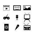 multimedia icon design image vector image vector image