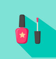 nail polish in glass bottle open lid and closed vector image vector image