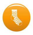 nice sock icon orange vector image vector image