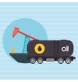 Oil truck isolated icon design vector image vector image