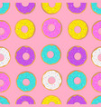 pattern with donut cakes vector image vector image