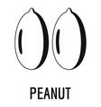 peanut icon simple style vector image vector image