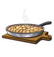 potato gratin vector image vector image