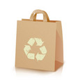 recycling bag brown paper lunch kraft bag vector image vector image