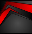 red and black tech corporate abstract background vector image vector image