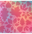 Red leaves on blurred background vector image vector image