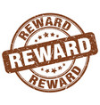 reward brown grunge round vintage rubber stamp vector image vector image