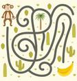 safari maze game for kids help monkey find vector image