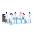 scientists women or laboratory employees - flat vector image vector image