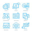 SEO and Digital Marketing Icons vector image vector image