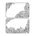 Set of two floral decorative frames