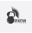 spartan fitness design template vector image vector image