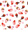 strawberry chocolate cake vector image vector image