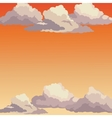 sunrise sky sunset clouds vector image