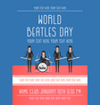 the beatles band topics vector image vector image