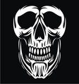 White Skull Face vector image vector image