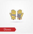 working protection gloves flat style image vector image