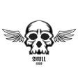 skull logo wings one new vector image