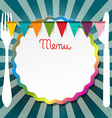 Restaurant or Bistro Menu Retro Design vector image